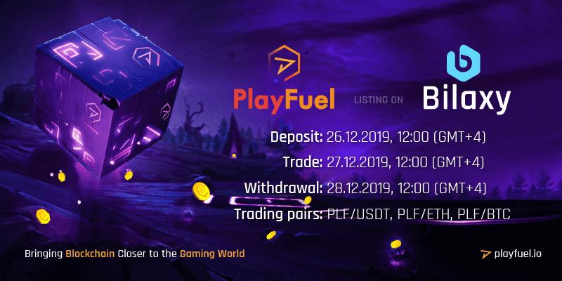 PlayFuel listing on Bilaxy