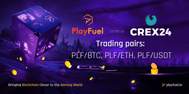 PlayFuel listing on Crex24