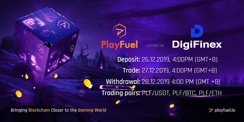 PlayFuel listing on DigiFinex
