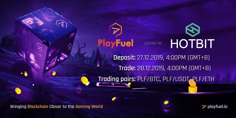 PlayFuel listing on Hotbit
