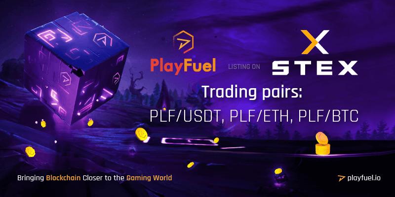 PlayFuel listing on STEX